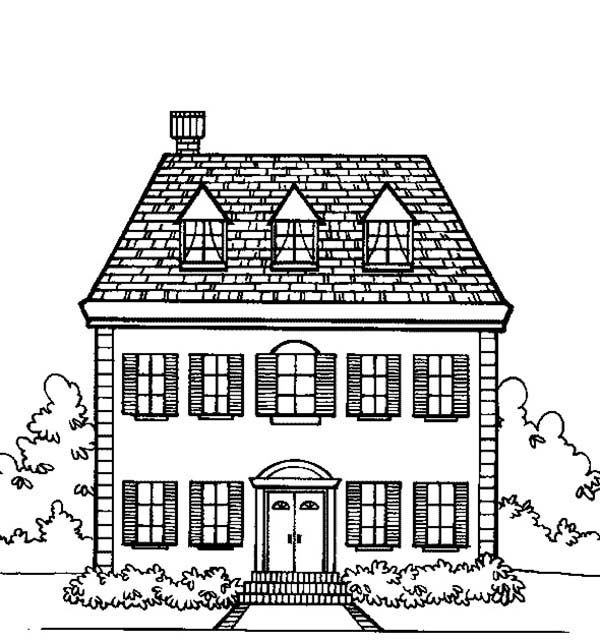 big family houses coloring page color luna