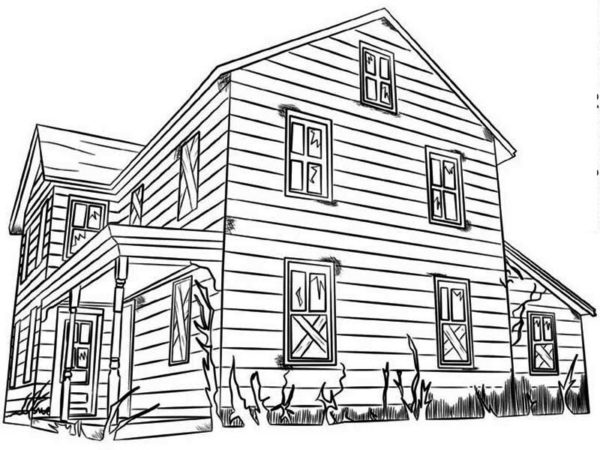 coloring pages house kids activities