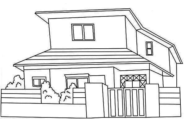 japan common houses coloring page color luna