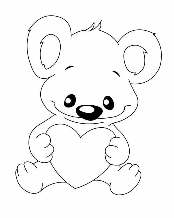 koala bear with love coloring page color luna