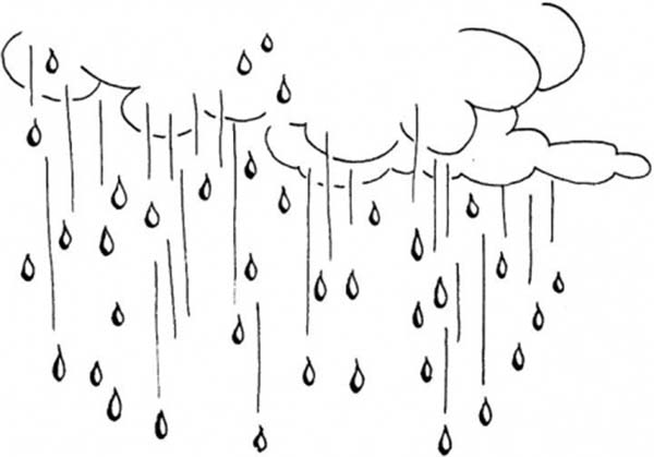 raining day raindrop falling from the sky coloring page color luna