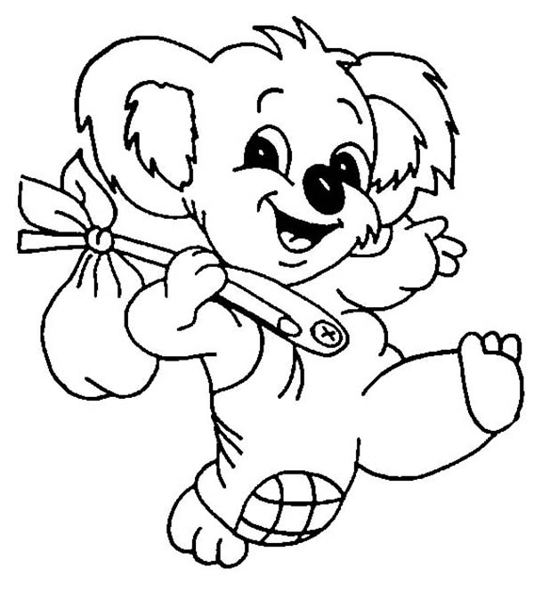the adventure of koala bear coloring page color luna