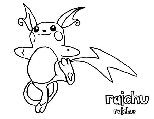 coloring page awesome pokemon raichu coloring pagefull size image