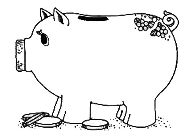 piggy coloring pages four piggy banks coloring page free four