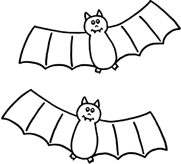 cute bat colouring pages page 2
