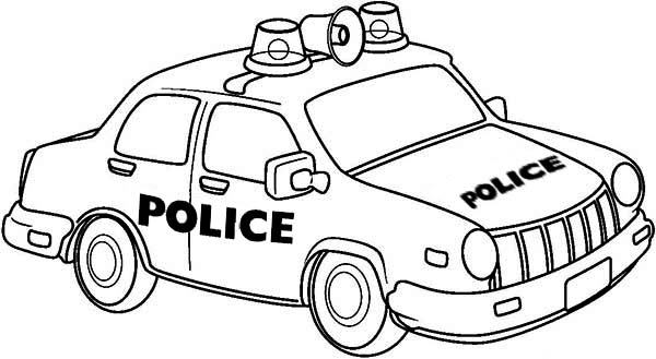 Drawing of Police Car Coloring Page   Color Luna
