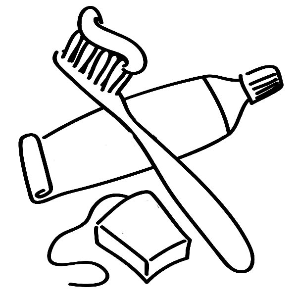 toothbrush coloring page hicoloringpages