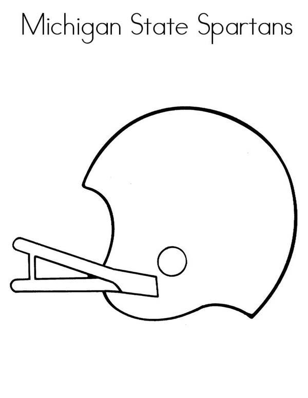michigan state spartans in nfl coloring page  color luna