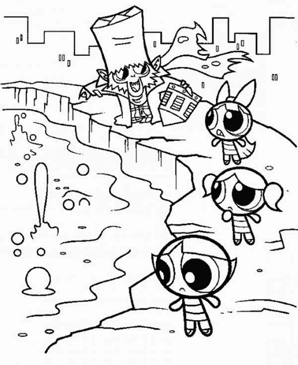 mojo jojo and the powerpuff girls coloring page color luna