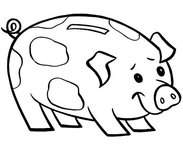 piggy bank is smiling coloring page color luna