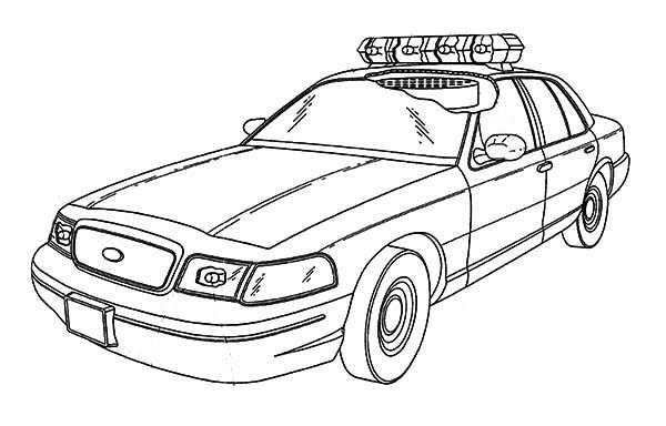 police car special force police car coloring page
