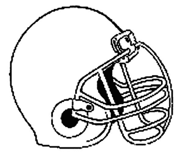 NFL Football Helmet Coloring Pages 176971 Football Helmets ... | 525x600