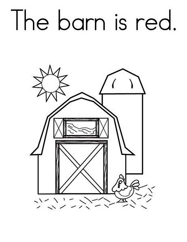 the barn is red coloring page color luna