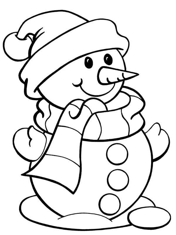 cute snowman page color luna