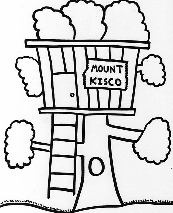 under the tree house coloring pages