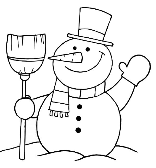 snowman greeting coloring page color luna