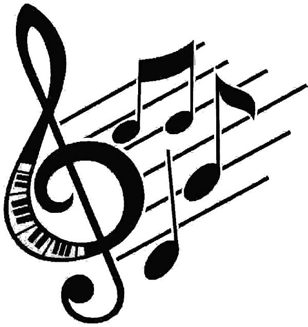 treble clef treble clef forming in a song coloring page