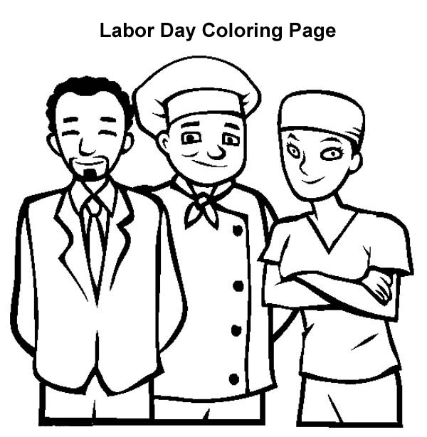 american workers in labor day coloring page color luna