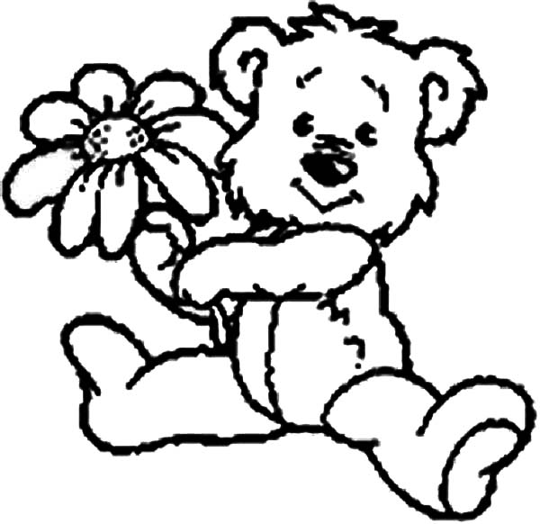 little valeentine teddy bear coloring page color luna
