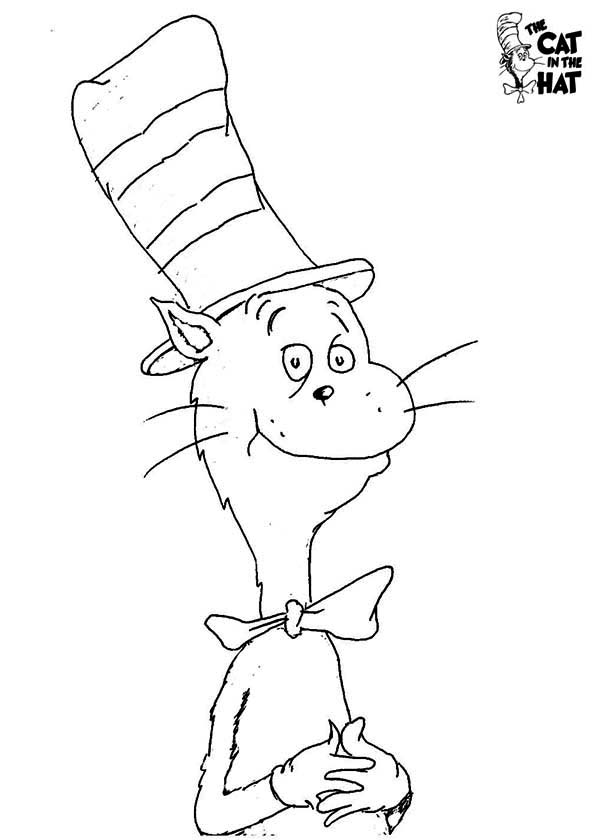 how to draw dr seuss the cat in the hat coloring page color luna