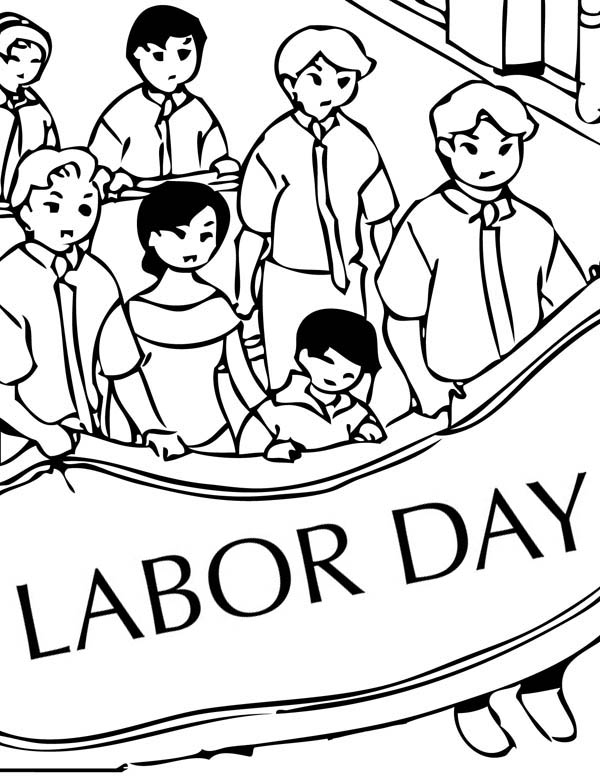 celebrate labor day coloring page color luna