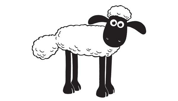 picture of shaun the sheep coloring page color luna