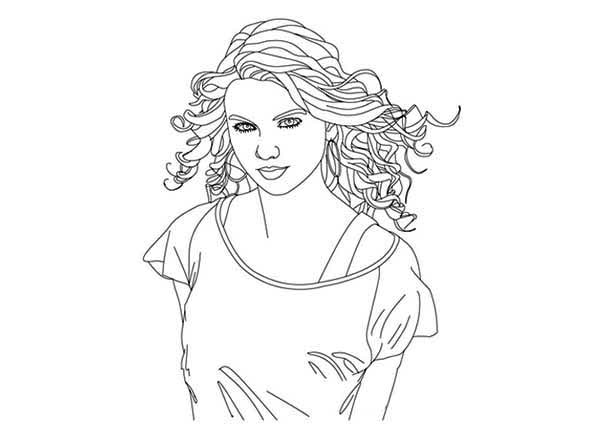 Taylor Swift 1989 Coloring Pages 38518 | TIMEHD