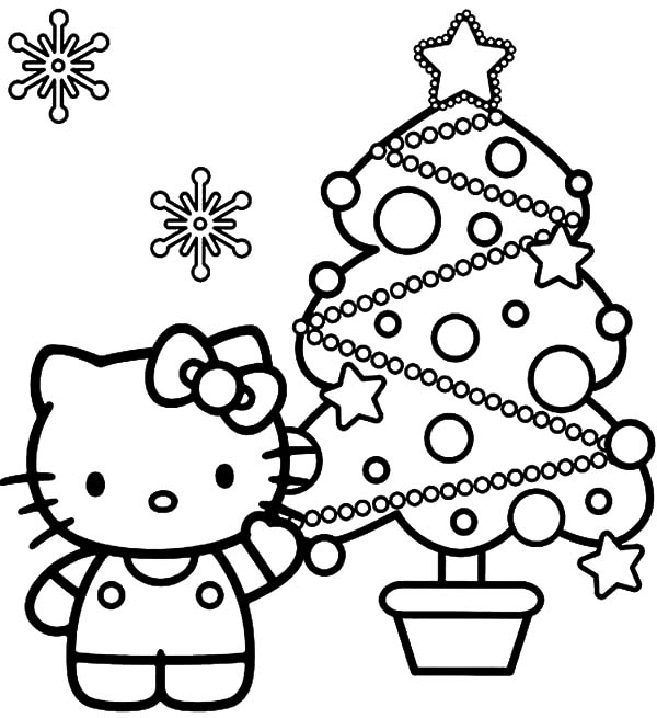 hello kitty show us her beautiful christmas trees