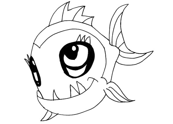 monster fish cute monster fish coloring pages cute monster fish