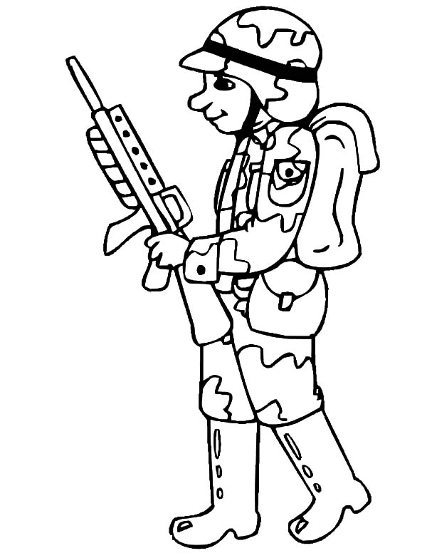 drawing military soldier coloring pages drawing military soldier