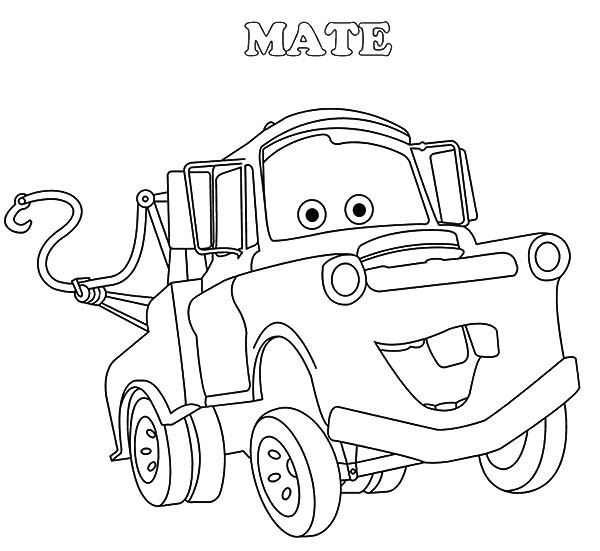 tow mater coloring pages tow mater car 2 movies coloring page