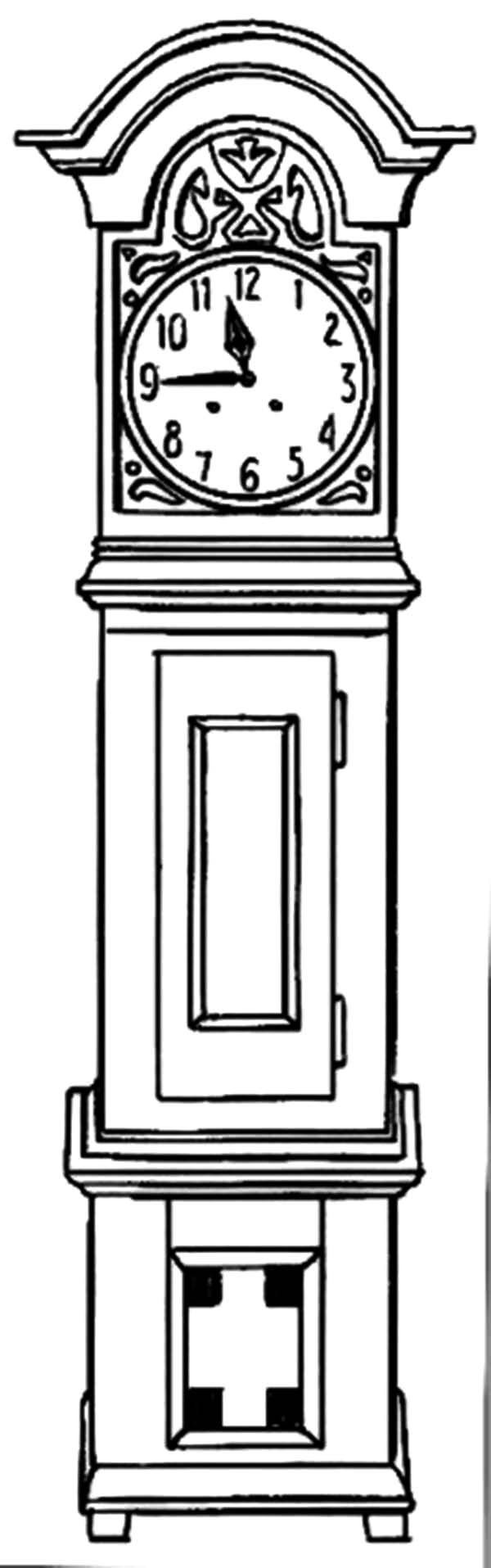Grandfather Clock Coloring Page Coloring Pages For Familly And Kids