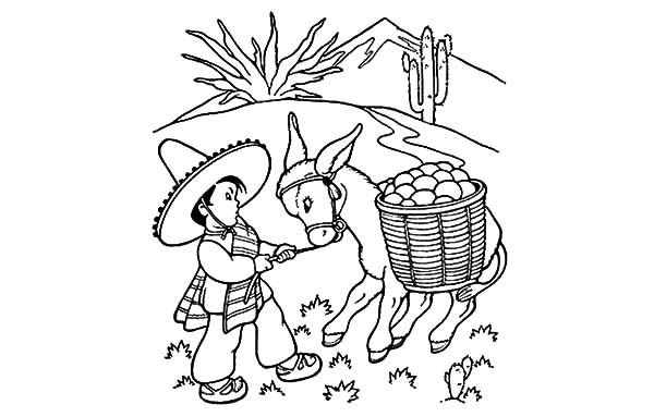 Chibi mexican donkey coloring pages color luna, jesus loves you coloring page