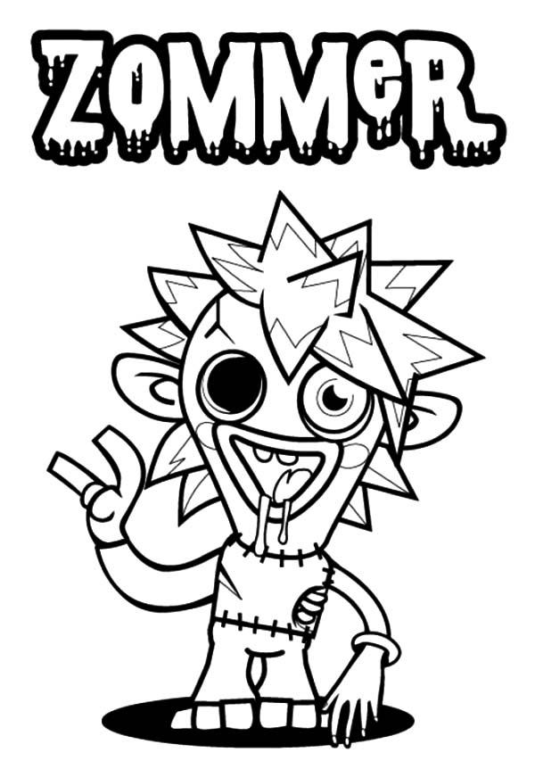 Printable Scary Moshi Monsters Diavlo Coloring Page pdf - MrColoring | 862x600