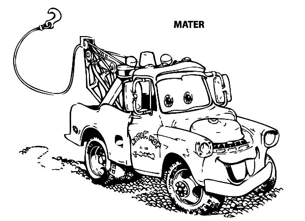 sir mater an old tow car coloring pages color luna