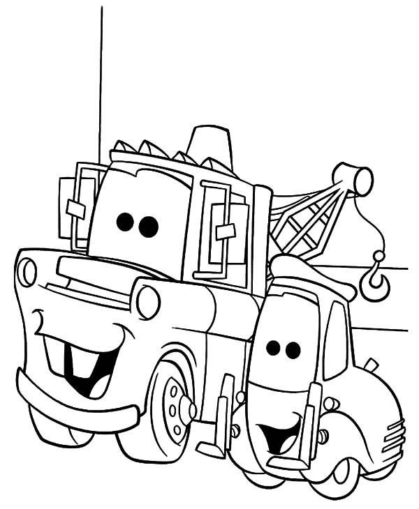 tow mater bestfriend guido coloring pages color luna