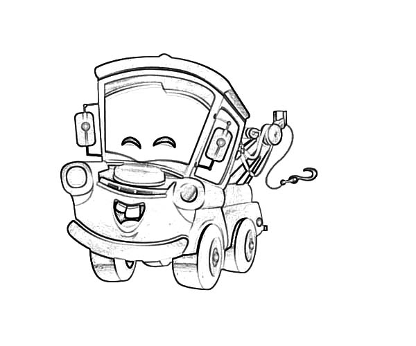 tow mater happy face coloring pages color luna