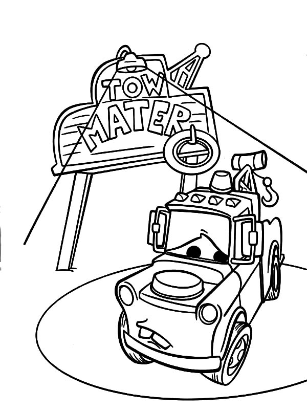 tow mater coloring pages 1000 images about cars on pinterest