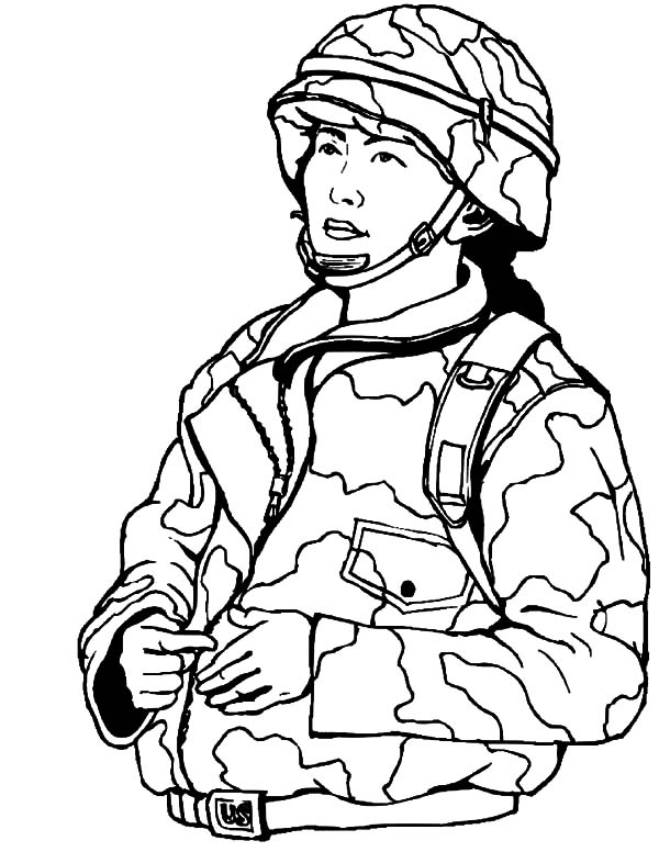 woman military soldier coloring pages woman military soldier