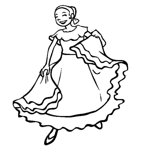 traditional mexican dress color luna