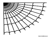 cartoon spider web colouring pages