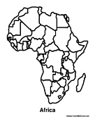 maps of africa coloring pages african maps