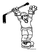 ice hockey coloring page 2 picture