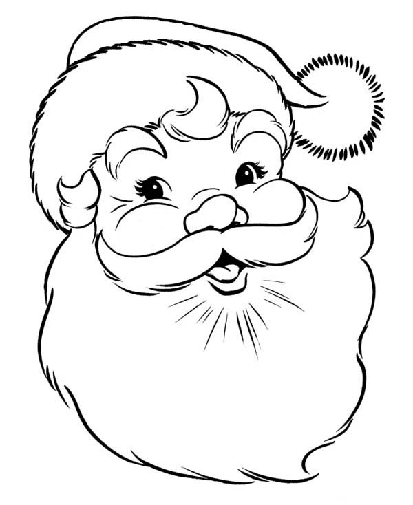 merry christmas santa coloring pages printable in addition worksheet