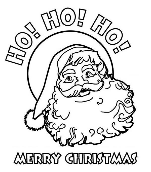Ho Ho Ho And Happy Merry Christmas From Santa Coloring