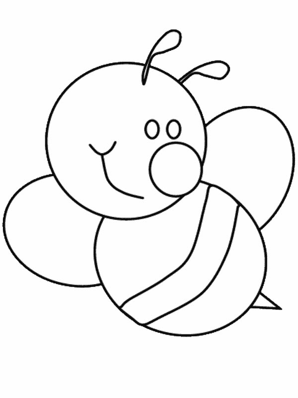 bumblebee cute bumblebee with big smile coloring page