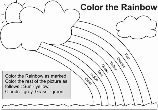 different types of color in a rainbow coloring page download