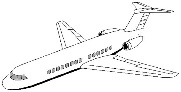 airplane dc 9 airplane coloring pagejpg 1000 images about