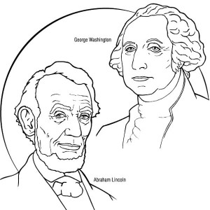 8 free printable Presidents Day coloring pages | 300x300