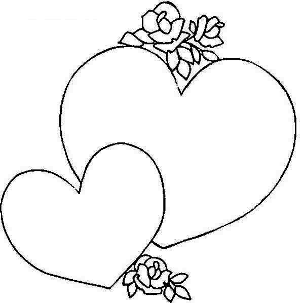giving a heart shaped gift box on valentine 39 s day coloring page